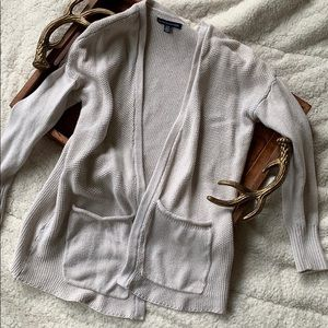 American Eagle Outfitters Sweater Taupe Cardigan S